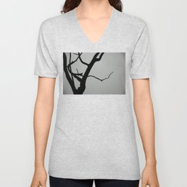 TREE ON JOANNA BALD Unisex V-Neck