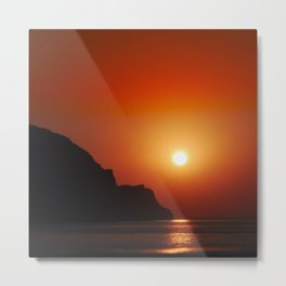 Sunset at the sea landscape Metal Print