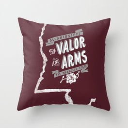 Mississippi Motto (Maroon) Throw Pillow