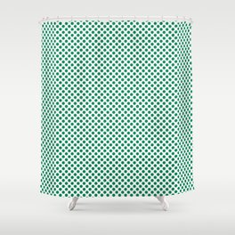 Jelly Bean Green Polka Dots Shower Curtain