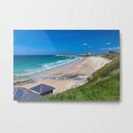 Fistral Beach Newquay Cornwall Metal Print