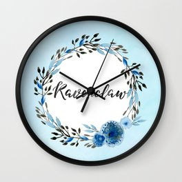 HP Ravenclaw in Watercolor Wall Clock