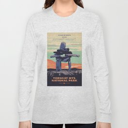 Torngat Mountains National Park Poster Long Sleeve T-shirt