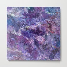 Violet Drops Abstraction Metal Print
