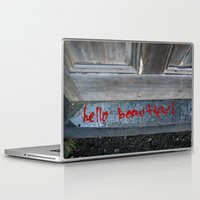 hello beautiful Laptop & iPad Skins featuring Hello Beautiful by Mine Ours Yours