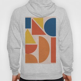 Mid Century Geometric Shapes Hoody