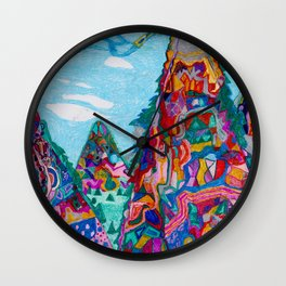 Talking Mountains Wall Clock