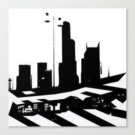 City Scape in Black and White Canvas Print