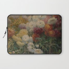 Chrysanthemums in the Garden at Petit-Gennevilliers - Claude Monet Laptop Sleeve