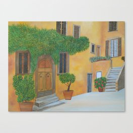 Village in Tuscany #4 Canvas Print
