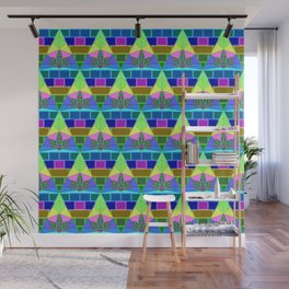 Inverted Lit Rainbow Wall Mural