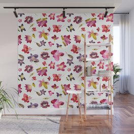 Floral vibes in watercolor Wall Mural