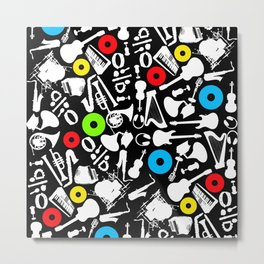 music abstract instruments Metal Print