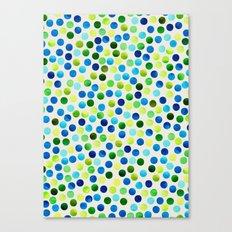 Watercolor Dots_Aqua by Jacqueline and Garima Canvas Print