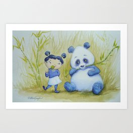 """Panda Pal Pleasantries"" Art Print"