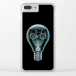 Dark Bicycle Bulb Clear iPhone Case