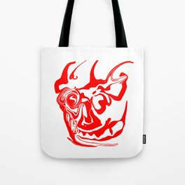 face8 red Tote Bag