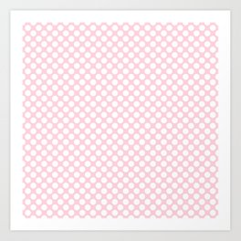 Large White Spots on Light Soft Pastel Pink Art Print