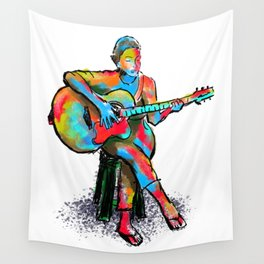 The guitarist Wall Tapestry