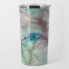 Colorful watercolor marble Travel Mug