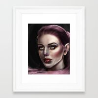 fairy Framed Art Prints featuring Fairy by Lily Fitch