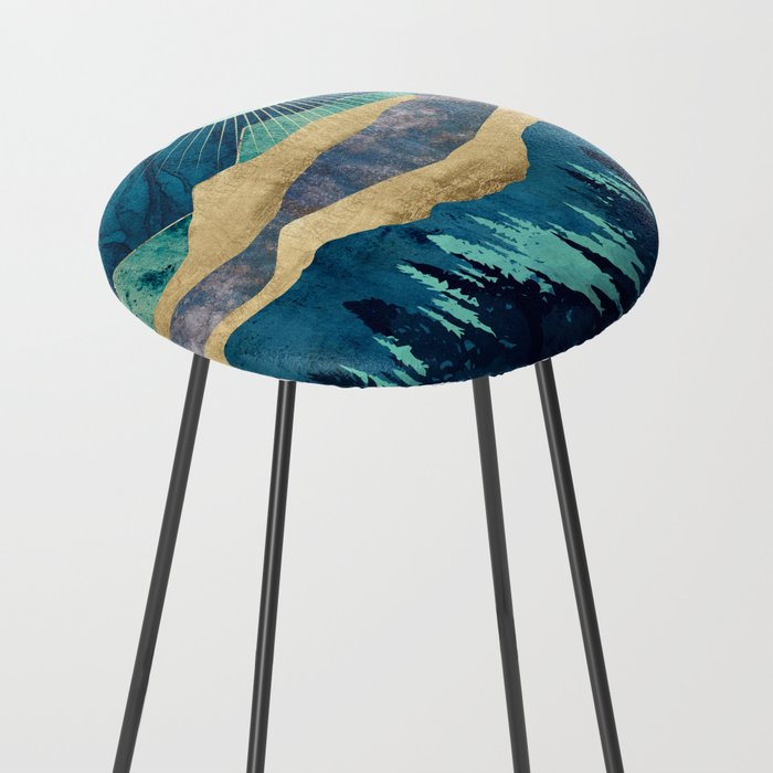 Blue Forest Counter Stool
