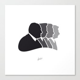 Sopranos Paper Cut Canvas Print