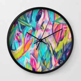 Jungle Jewels Wall Clock