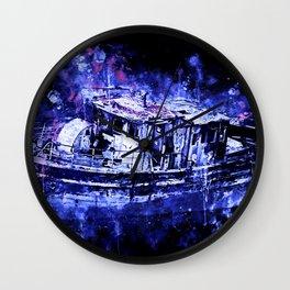 old ship boat wreck ws db Wall Clock