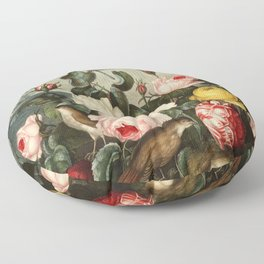 Pink  Red Floral : New Illustration Of The Sexual System Floor Pillow