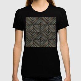 Herringbone Diamonds - Peach T-shirt