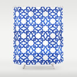 Geometric Pattern - Oriental Design rmx Shower Curtain