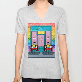 The Rainbow Cafe Unisex V-Neck