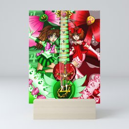 Sailor Mew Guitar #42 - Sailor Jupiter & Mew Ringo Mini Art Print
