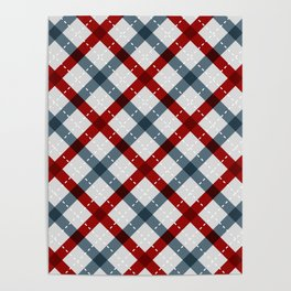 Colorful Geometric Strips Pattern - Kitchen Napkin Style Poster