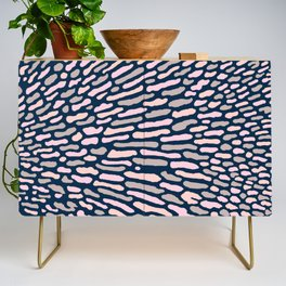 Organic Abstract Navy Blue Credenza