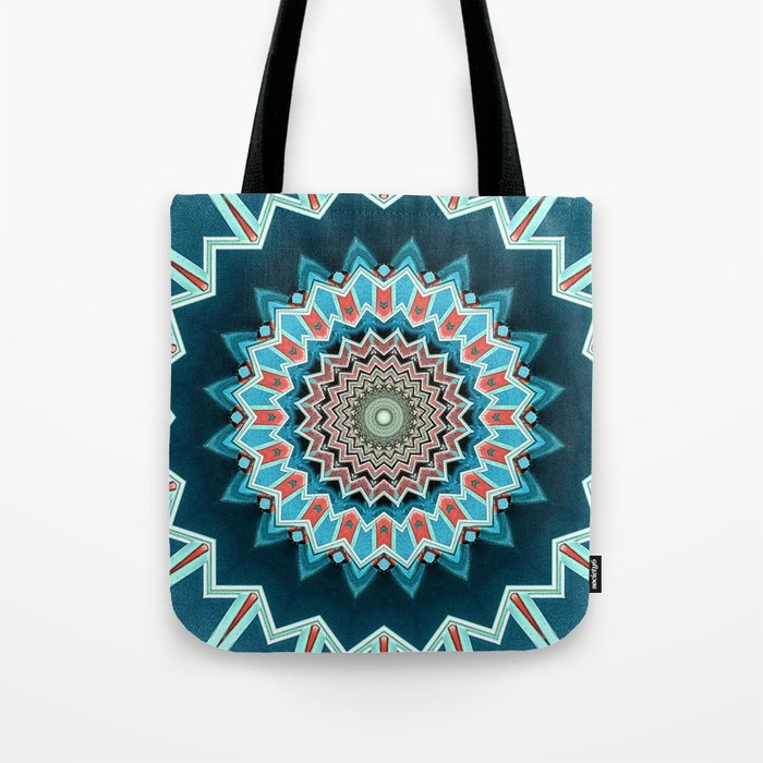 Blue And Turquoise Pattern Tote Bag