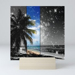 Caribbean Dreaming - digital artwork tribute to Isla Saona in the Dominican Republic Mini Art Print