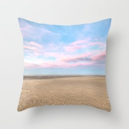 Sparse Beach Throw Pillow