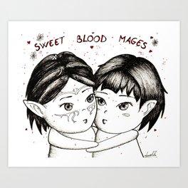 Sweet blood mages Art Print