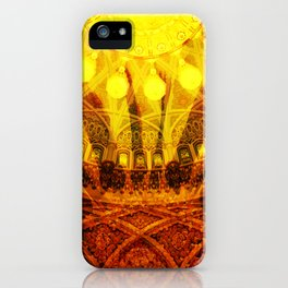 Oriental Blossom Flower yellow orange Ornaments iPhone Case