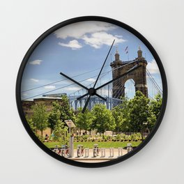 Cincinnati's John A. Roebling Bridge Wall Clock