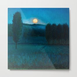 Nocturn a Llore - The Color of Night landscape by Benet Martorell Metal Print