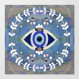 Evil Eye Protective Turkish Mandala Print Canvas Print