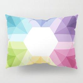 Fig. 021 Colorful geometric shapes Snowflake Pillow Sham