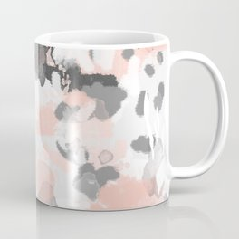 grey and millennial pink abstract painting trendy canvas art decor minimalist Coffee Mug