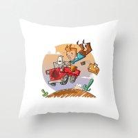 tintin Throw Pillows featuring Tintin and Snowy! by Ana Xoch Guillén