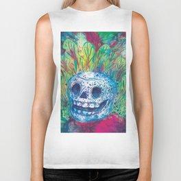 Mayan Skull Biker Tank
