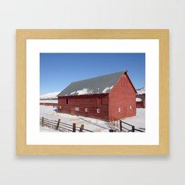 #406 bitterroot barn  Framed Art Print