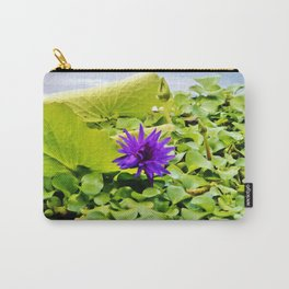 Tropical Purple Flower Carry-All Pouch